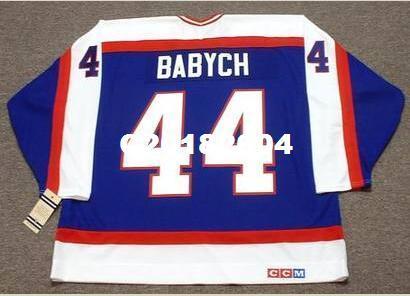 Homens # 44 DAVE BABYCH Winnipeg jatos 1982 CCM Vintage RETRO camisa de hóquei ou personalizado qualquer nome ou número retro Jersey