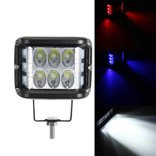 1pcs 4 Inch 20W 9000LM LED Car Work Light Bar Three Sides Glow Spot light for Off-Road Tractor ATV