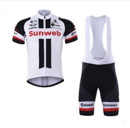 2020 New SUNWEB Tour de France Team Edition manches courtes Sangle Costume Maillot cyclisme séchage rapide vêtements respirants