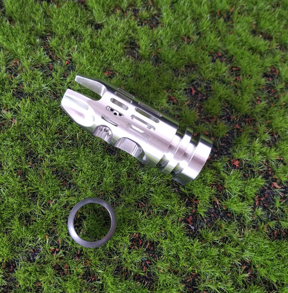 Tactical 1 2-28 Thread Stainless Steel Muzzle Brake Compensator With Crush Waser For .223 5.56