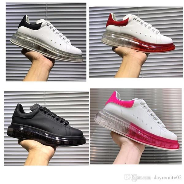 2019 Nouvelle qualité designer de mode marque Vacuum coussin chaussures blanches surdimensionnées baskets à semelle en caoutchouc baskets en daim en cuir Marque Casual chaussures