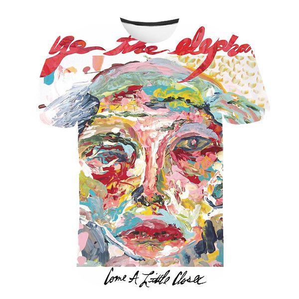 Nouveau Mode Hommes / Femme Aquarelle Graffiti Drôle 3D Imprimer T-shirt Casual Manches Courtes Drôle T-shirt T-shirts Tops T-shirt BB105
