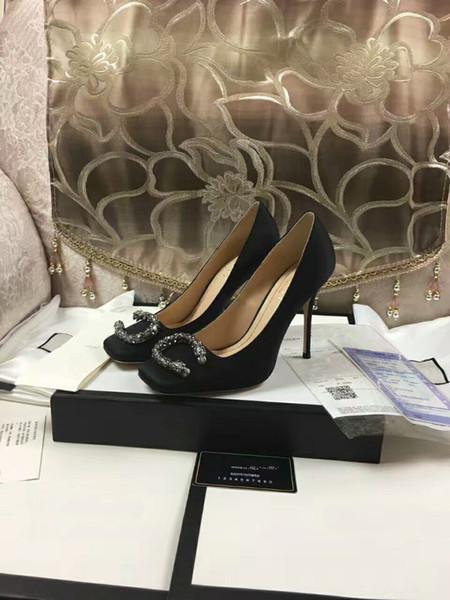 Стильные каблуки lRed / черная овчина обнаженная лакированная кожа насосы/высокие каблуки для свадеб