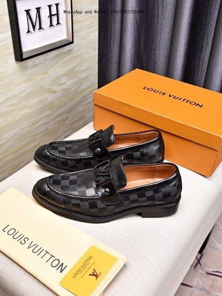 Brand Shoes Imported Fabric Original Wear Resistant Non-slip Sole Contracted black And white men dress Leisure Men's Business Casual 0310