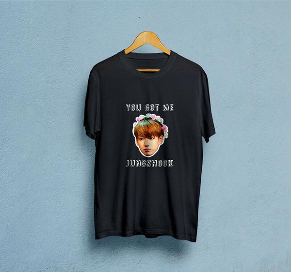 Jungshook Erkek Siyah Tişört Klasik Kalite Yüksek tişört