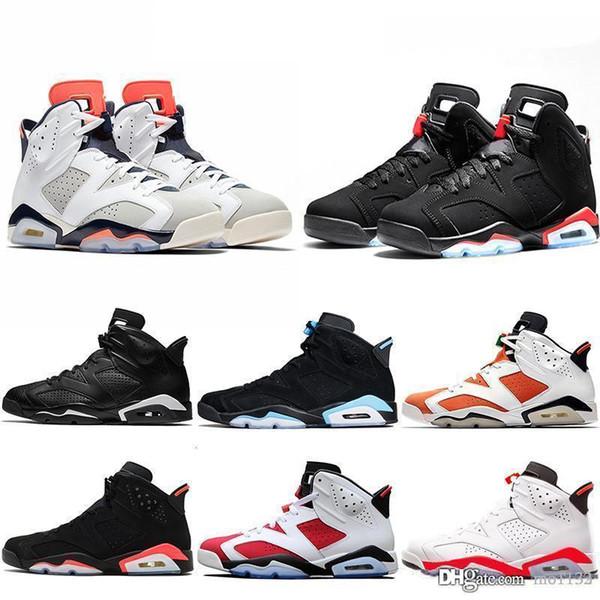 2018 New Bred Men 6 6s Basketball Shoes Tinker UNC Black Cat White Infrared Red Carmine Toro Mens Designer Trainer Sport Sneaker Size 41-47