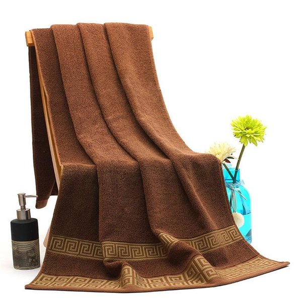 Jacquard Weave Bath Towel Women And Men Washcloth Home Hotel Facecloth White Brown Cotton Hot Sales 23 5sm C1