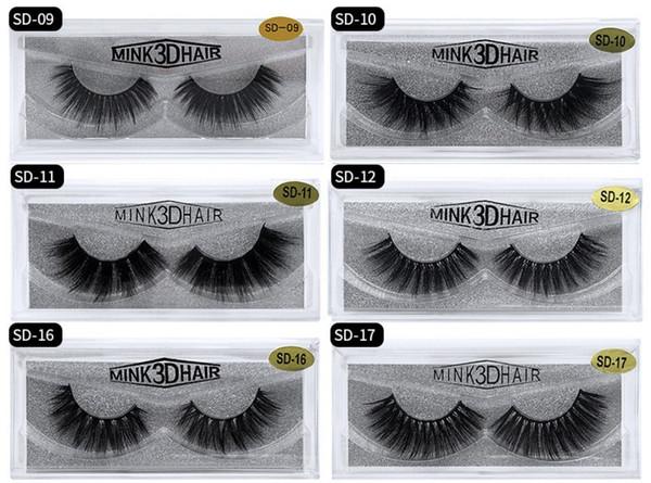 New 17 Styles 3D Mink Eyelashes Extension Sexy False Eyelashes Natural  Thick Fake Eye Lashes Mink Eye Lashes Beauty Tools DHL Kiss Lashes No  Eyelashes