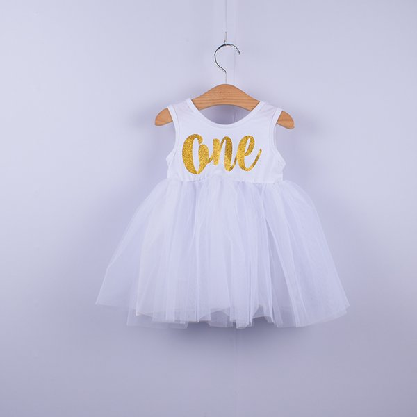 Fashion Baby Girls Princess Dress Toddler Kids Clothes Solid pattern printed Birthday party Dress Infant tutu summer