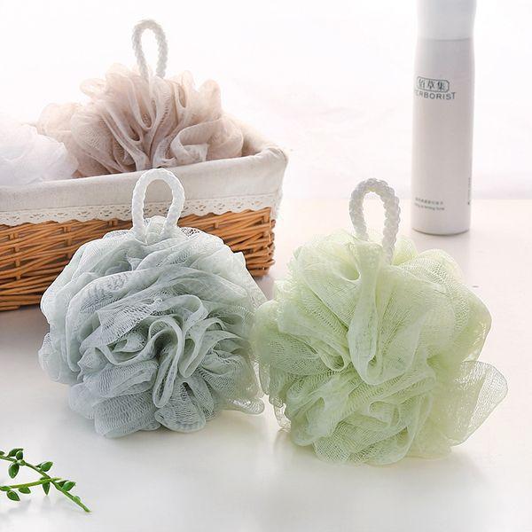 best selling Sponge Bath Ball Wholesale Bathroom Mesh Bath Poufs Scrubbing Back Foaming Body Sponge Hotel Market Supplies