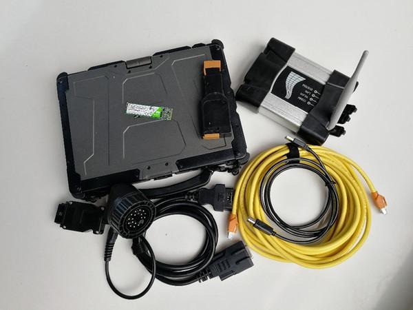 High Quality Laptop Getac V110 4G RAM Fourth Generation I5+ wifi ICOM NEXT for BMW +SSDM.2 480GB super auto Diagnosis tool