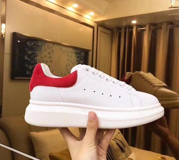 Дешевые Роскошная Мужчины Повседневная обувь Дешевые Лучшие высокого качества Mens женщин моды кроссовки партии платформы обувь Velvet кроссовки A1