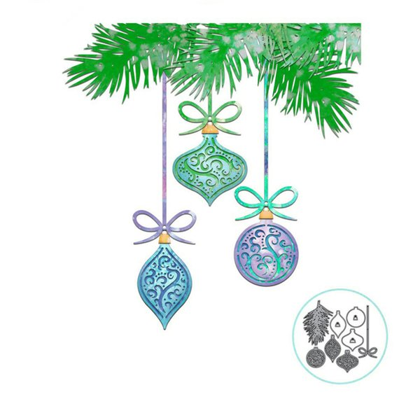 Christmas Hanging Decor Metal Cutting Die Stencils for DIY Scrapbooking album Decorative Embossing Hand-on Paper Cards Craft