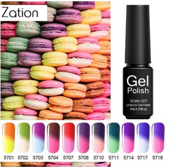 Zation مسمار الفن الحرارية جل 8 ملليلتر نقع قبالة الحرارة تغيير لون uv gel nail البولندية تحتاج أعلى معطف lacquers الهجين الأظافر ورنيش