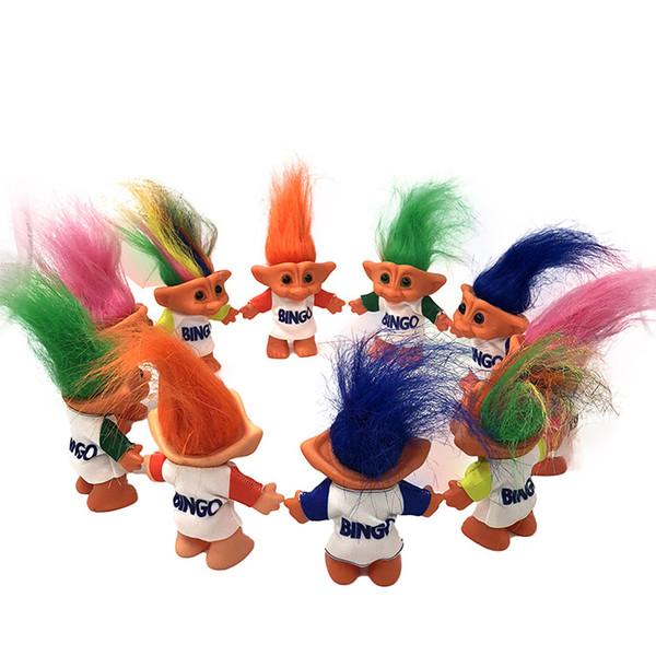 best selling 10cm Troll Doll With Bingo Clothes Leprechauns Dam Toys Russ Troll for Nostalgic Doll Children Birthday Gift LA249
