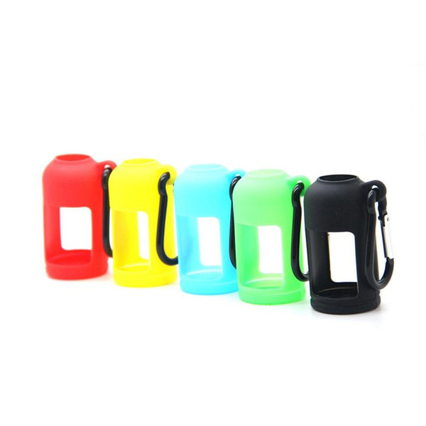 Good Colorful Silicone Shell Sleeve Protective Case Skin Key Buckle Portable Innovative Design For Vape 30ML Oil Bottle High Quality