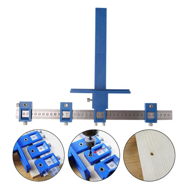 Detachable Hole Punch Locator Jig Tool Drill Guide Sleeve for Drawer Cabinet Hardware Dowelling Wood Hole Punching Hand Tool Set