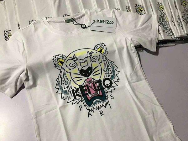 2018 erkek T-shirt renk kaplan desen otoriter yakışıklı güneş ışığı bak