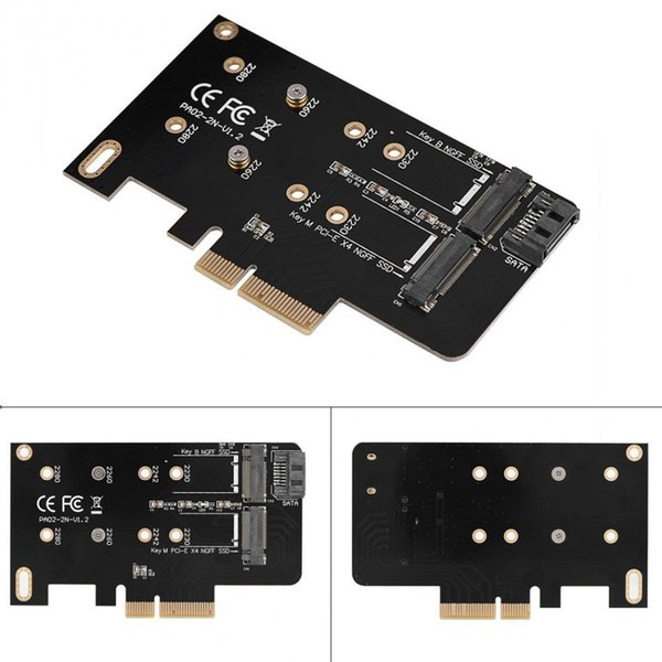 2 puertos NGFF M.2 B + M Clave para PCI-E 4X 3.0 Adaptador de tarjeta SSD a PCI Express Envío gratis envío rápido en el día