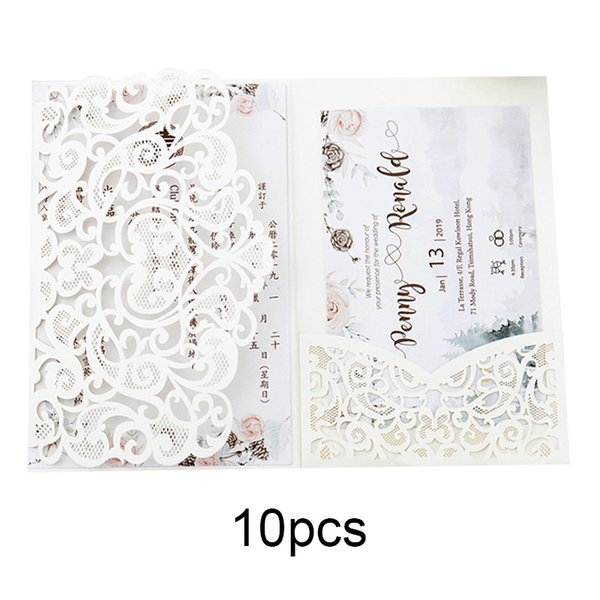 Tri Fold Hollow Cut Wedding Invite Bridal Shower Dinner Invitation Card Cover Lxy9 B Day Greeting Cards Baby Greeting Cards From Shuishu 36 94