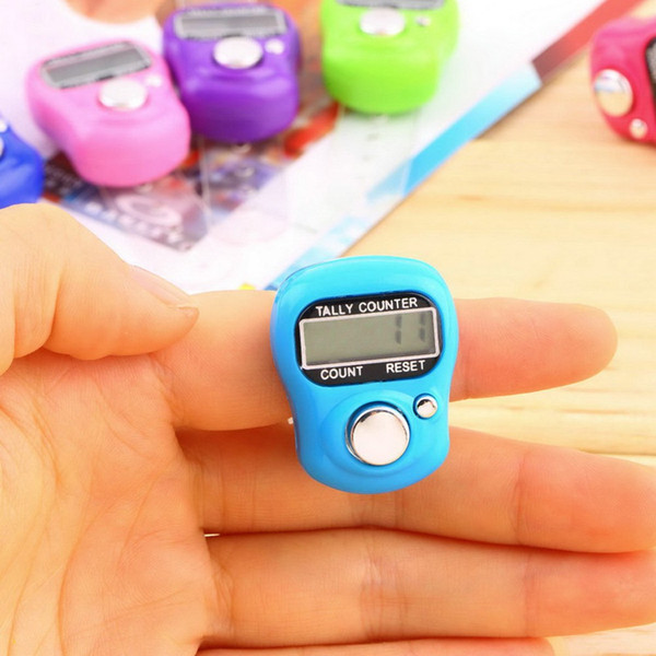Free Shipping 200pcs Mini Hand Hold Band Tally Counter LCD Digital Screen Finger Ring Electronic Head Count Tasbeeh Tasbih
