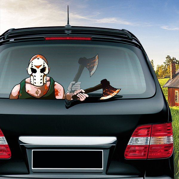 Rear Windshield Wiper >> 2019 Halloween Car Sticker Car Rear Windshield Wiper Decor Decals Animated Moving Waving Wiper Sticker For Truck Auto Decoration From Winsunstore