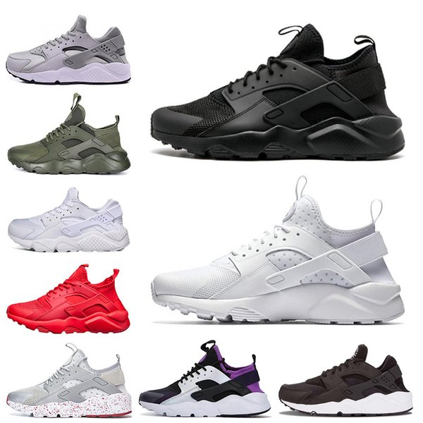 Compre Nike Air Huarache Shoes Zapatillas Clásicas Huarache Running Triple Balck Blanco Rojo Hombres Mujeres Gold Grey Huaraches Runner Sneakers