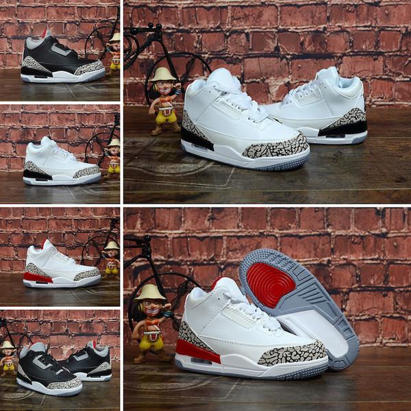 Nike Air Jordan 3 Billige herren 3s basketball schuhe retro j3 blau rot silber wolf grau schwarz zement j3 jugend kinder jumpman iii turnschuhe stiefel