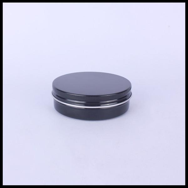 100g Nero Alluminio vaso Crema contenitore cosmetico con tappo a vite e sfusi lattine di cibo lattine di cotone
