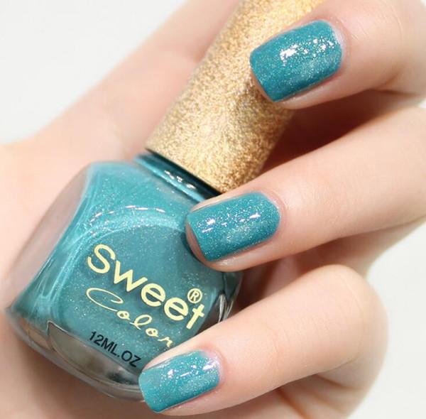 Commercio all'ingrosso 12 colori bottiglia di colore dolce smalto per unghie 12ml rosa nudo eco friendly nail art polacco.