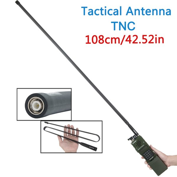 best selling ABBREE TNC VHF UHF Dual Band Foldable Tactical Antenna For Kenwood TK-378 Harris AN PRC-152 148 Walkie Talkie two way radio