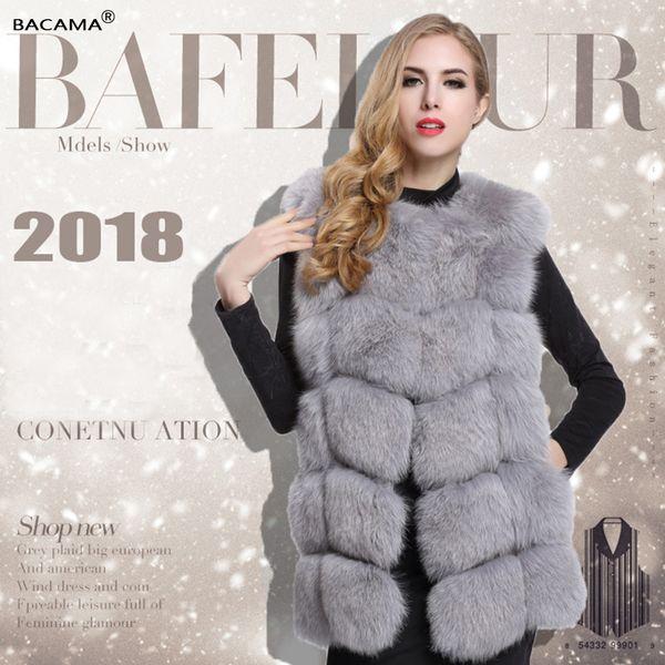 9616047bea4 2018 BACAMA 2018 Women'S Clothing High End Faux Fur Coat Elegant Comfort  Warm Slim Sleeveless Faux Fox Fur Vest Winter From Apparelone, $44.93 | ...