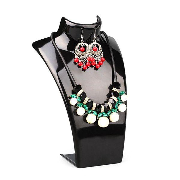 Orecchini della collana acrilica Mannequin Display Stand Holder monili del pendente Visualizza Rack
