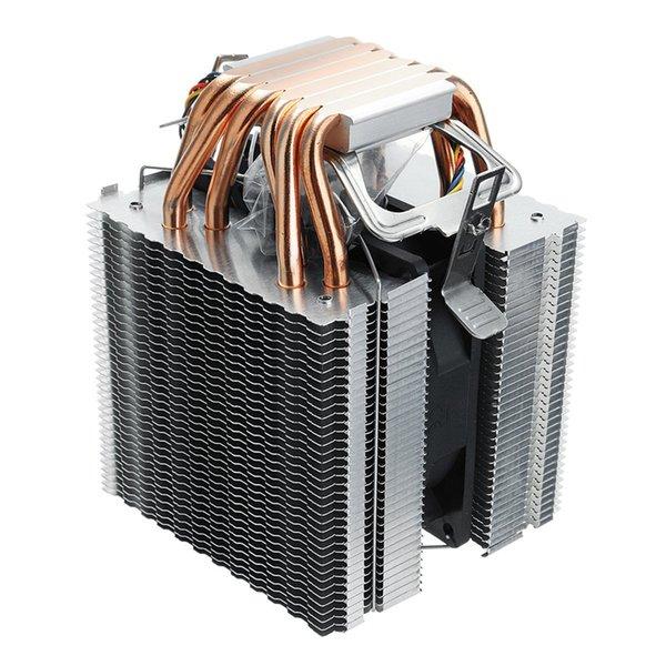 6 Heat Pipe 4 Wire Single Fan Without Light Cpu Fan Cpu Heatsink For Intel 775/1150/1155/1156/1366 For Adm All