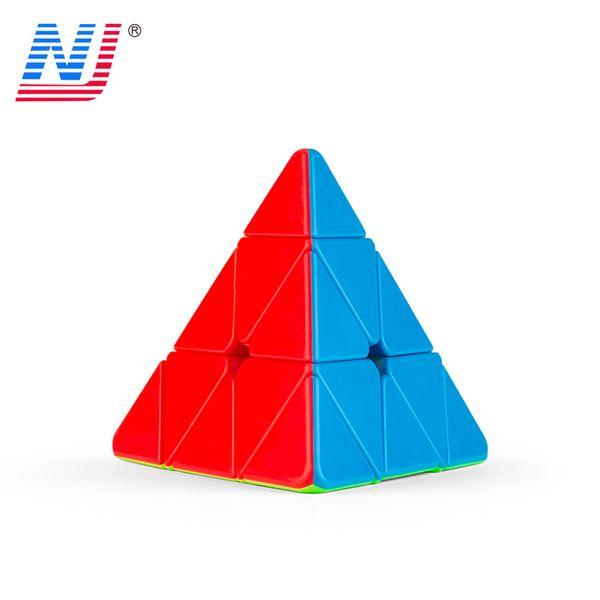 Pyramid Magic Mini Magnetic Cubes Professional Sticker 3x3x3 Rubic Cube Magic Cube Puzzle Neo Cubo Magico Kids Toys