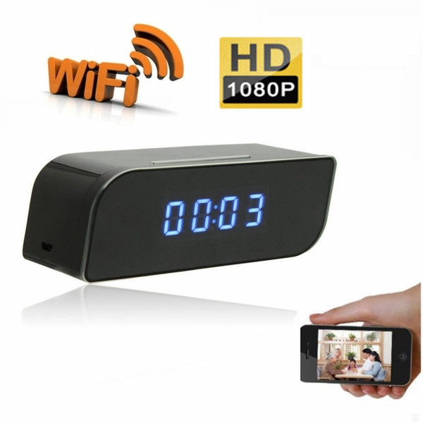 1080P Wi-Fi-Netzwerkkamera Wecker HD DVR Bewegungsaktivierte Kamera-App Echtzeit-Fernüberwachung für Home Security Wireless Nanny Cam