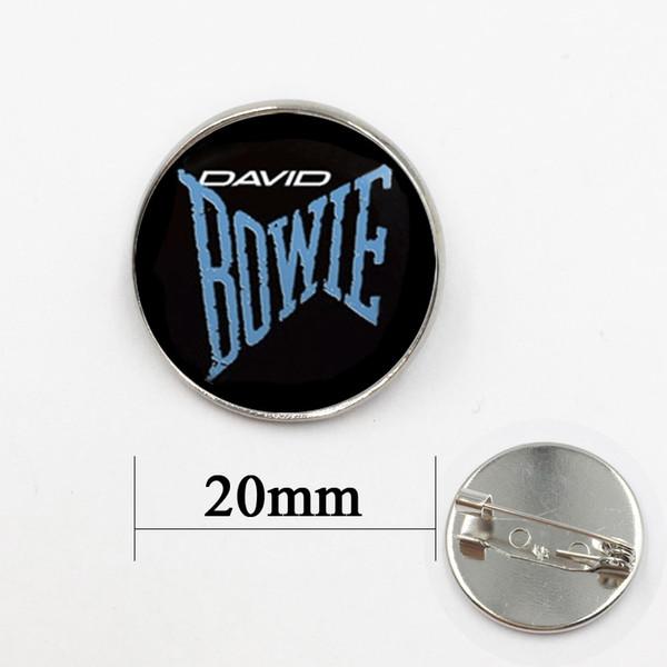 Design Bowie Star Collar silver bronze Brooch Fashion David Bowie Famous British Rock Musician