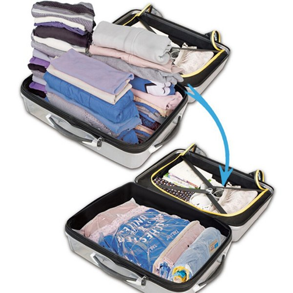 Hand Rolling Type Vacuum Compressed Bags Travel Storage Bag Space Saving Bags Clothing Seal Compressed Organizer Bag QB895687