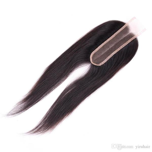 Peruanisches Menschenhaar-Schließung 2X6 Spitze-Schließung gerades peruanisches Haar-Mittelteil mit Baby-Haar-Schließungen 8-20inch
