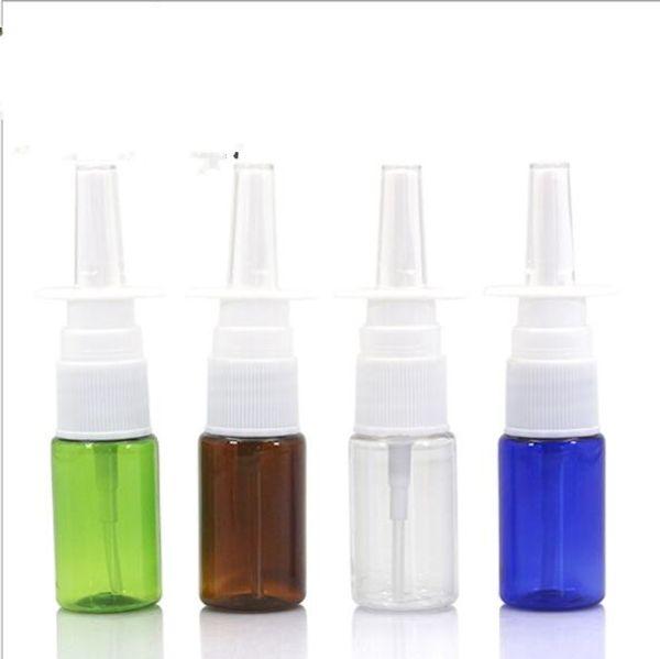 venta al por mayor 10 ml de plástico vacío Botella de bombas de aerosol nasal, atomizadores nasales de 10 cc, aplicadores de aerosol oral de 1/3 oz