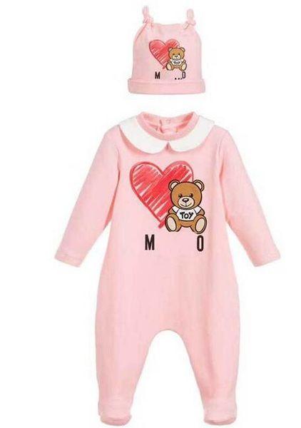 Yeni Erkek Bebek Kız Rompers Uzun kollu Ekose Bebek Tulum + Şapka 2pcs Kıyafet Çocuk Yenidoğan Bebek Giyim Jumpsuit