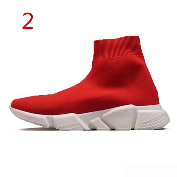 2019 High Quality ACE Designer casual sock Speed Trainer Black Red Triple Black Fashion Socks Sneaker Trainer shoes 36-45 S07