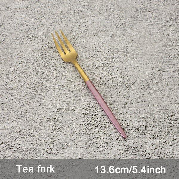 Color:Pink Tea fork