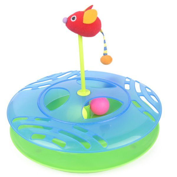 Pet Products Cat Supplies Toys Amusement Plate Rotary Table Interactive Educational Environmentally Friendly And Easy To Clean