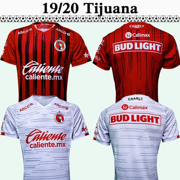 19 20 Xolos de Tijuana Camisas De Futebol México RIVERO LUCERO BOLANOS Casa Vermelho Longe Branco Camisas de Futebol Mexican Camisetas de fútbol Uniformes