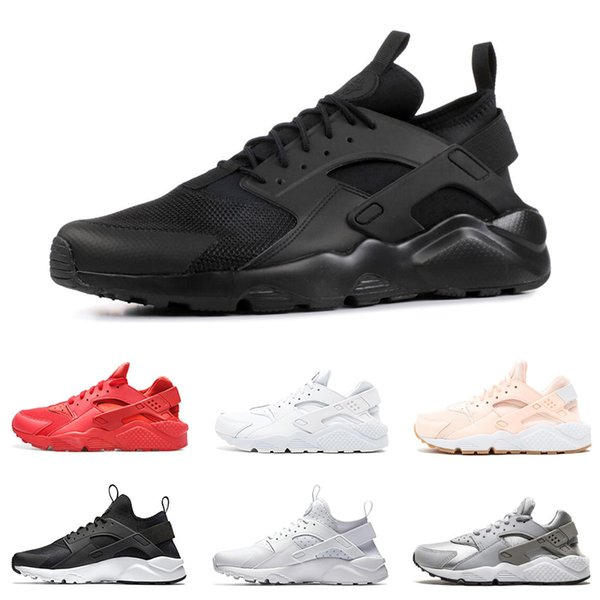 2019 Huarache run ultra running shoes for men women triple black white red pink breathable mens trainer fashion sports sneakers runner