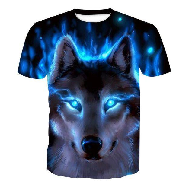 Herren T-Shirt Herren 3D Digital Print Tide Brand Kurzarm Herren T-Shirt