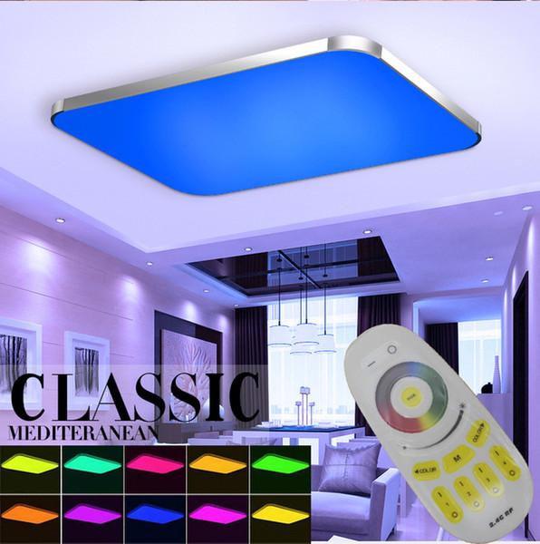 LED Tavan Işıkları Lamba Luminaria Tavan Işık Uzaktan Kumanda Ile Dim Renk Ve RGB Değişen Armatürler Cilası Plafonnier