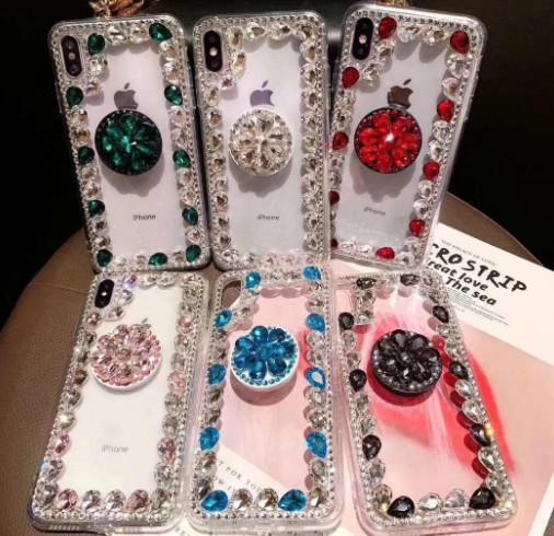 NOUVEAU Crystal Diamond couverture de téléphone pour Iphone XS Max Xr X 8 7 6 6 S Plus