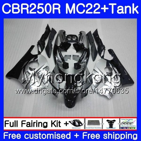 HONDA CBR 250RR CBR250RR Enjeksiyon + Tankı 90 91 92 93 94 263HM.11 MC22 CBR 250 CBR250 RR Gümüş siyah 1990 1991 1992 1993 1994 Fairing